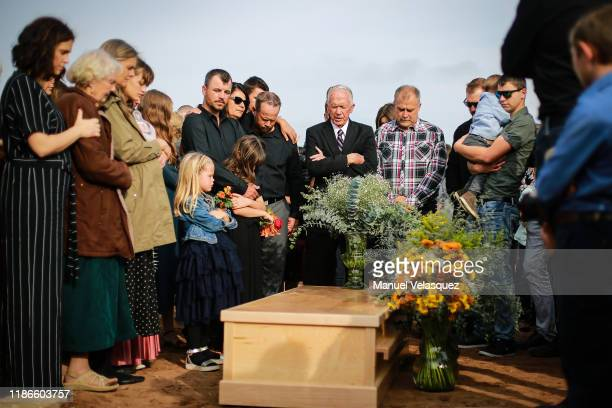 Members of local Mormon communities and relatives of the extended Le Baron family attend the funeral held for Christina Marie Langford on November 09...