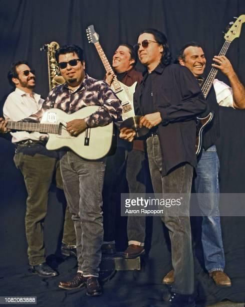 Members of Los Lobos pose for a portrait in Los Angeles California