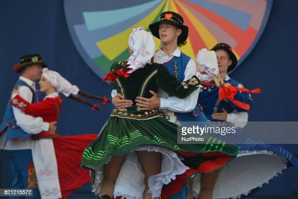 Members of 'Lowicz' group from Edmonton Canada during their performance on the first day of the 17th edition of World Festival of Polish Diaspora...