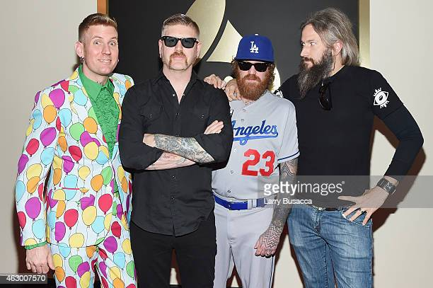 Members of Mastodon Brann Dailor Bill Kelliher Brent Hinds and Troy Sanders attend The 57th Annual GRAMMY Awards at the STAPLES Center on February 8...