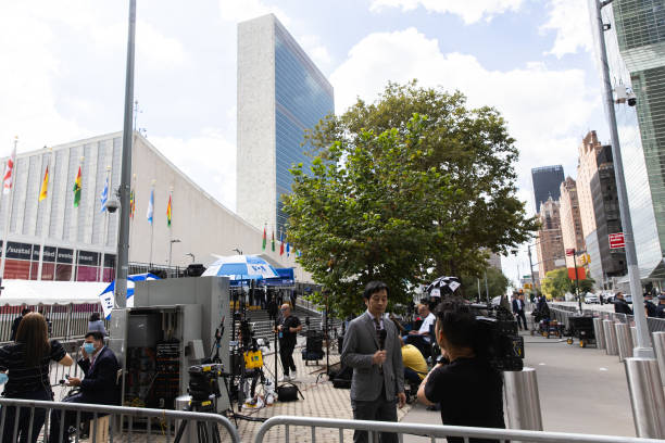 NY: United Nations Headquarters Ahead Of 76th Meeting Of General Assembly