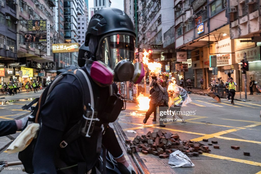 Anti-Government Protests Continue in Hong Kong : ニュース写真