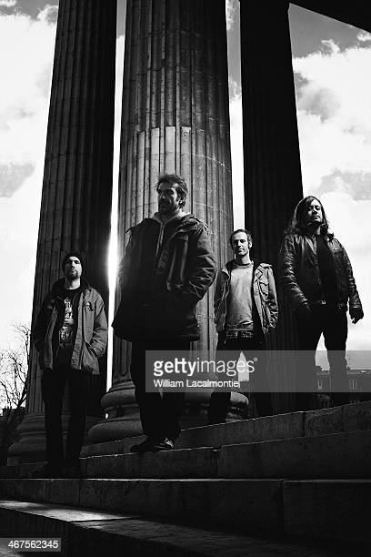 Members of metal band Fiend are photographed for New Noise on February 2 2014 in Paris France