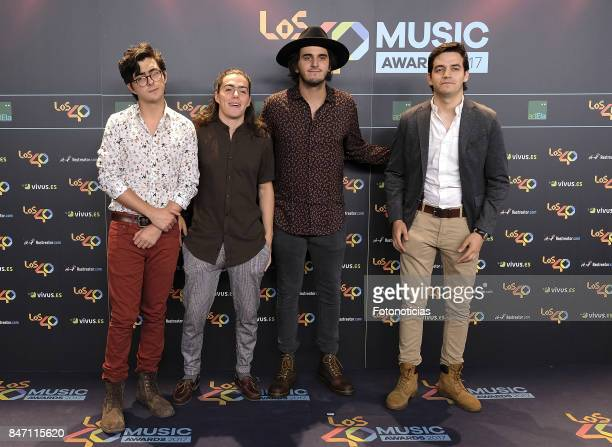 Members of Morat attends the 40 Principales Awards Nominated Dinner at the Florida Retiro on September 14 2017 in Madrid Spain