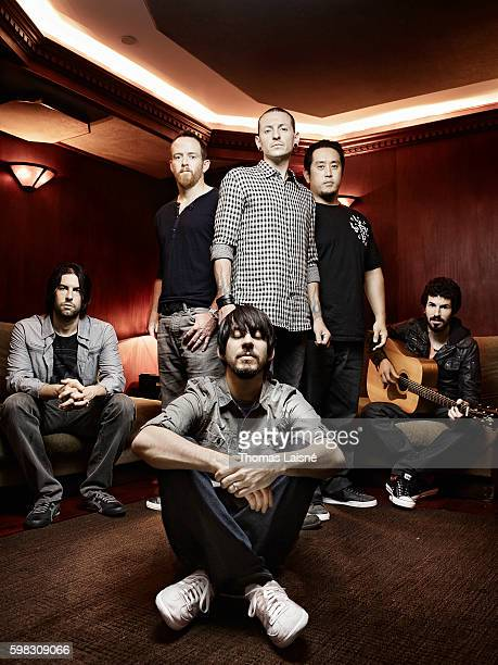 Members of music band Linkin Park are photographed for Self Assignment on July 20 2010 in Paris France