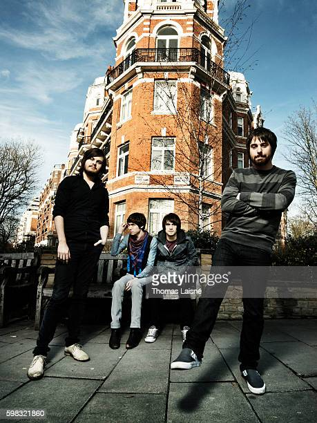 Members of music band Panic At The Disco are photographed for Self Assignment on February 10 2008 in Paris France