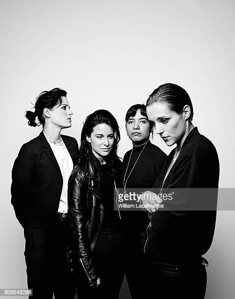 Members of music band Savages are photographed for New Noise on November 4 2015 in Paris France