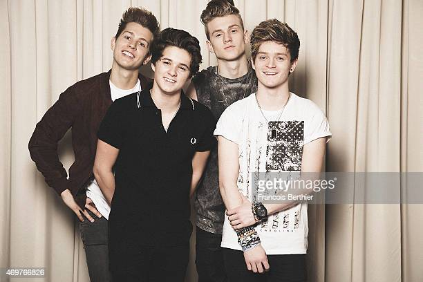 Members of music band The Vamps is photographed for Self Assignment on April 11 2015 in Paris France