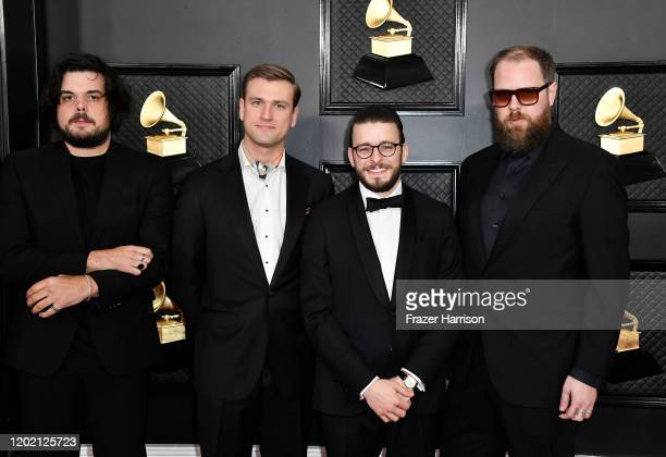 Members of music group Bon Iver attend the 62nd Annual GRAMMY Awards at STAPLES Center on January 26 2020 in Los Angeles California