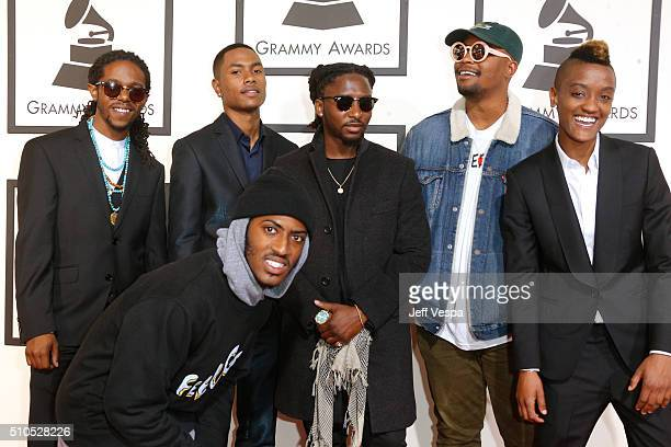 Members of music group The Internet attend The 58th GRAMMY Awards at Staples Center on February 15 2016 in Los Angeles California