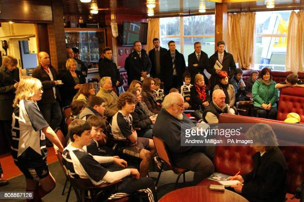 Members of Musselburgh rugby club during the announcement of a significant investmet into the grassroots game including the establishment of a new...