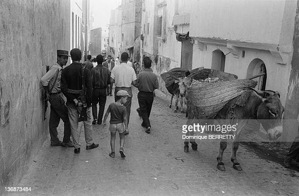 Members of National Liberation Army in a street of Algiers two months after the Independence on September 5 1962 in Algiers Algeria