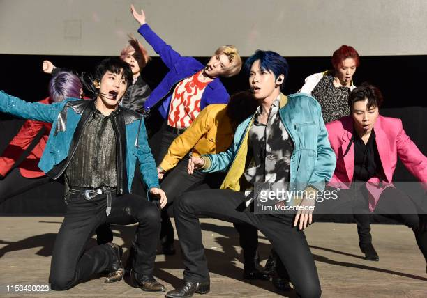 Members of NCT 127 perform during Wild 949's Wazzmatazz at Shoreline Amphitheatre on June 02 2019 in Mountain View California