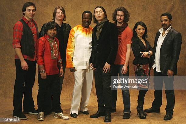 ACCESS *** Members of new musical supergroup 'Pangea' comprised of Evan Joyce of USA Kailash Kher of India William Ryan George of USA King Sunny Ade...