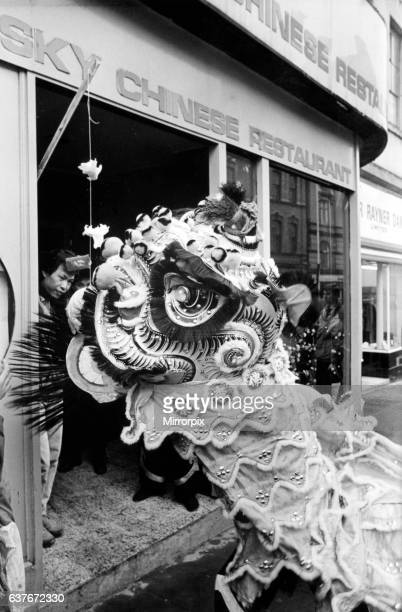 Members of Newcastle's Chinese community celebrate the Year of the Rabbit in Pilgrim Street. 2nd February 1987.