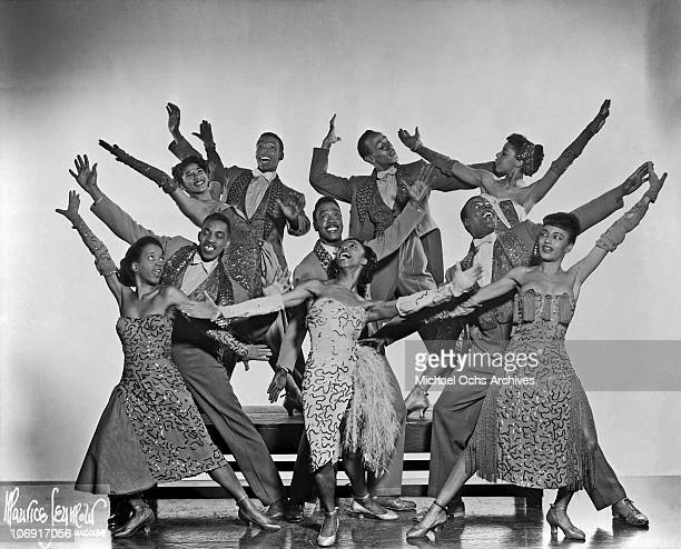 Members of Norma Miller's Dancers performing with Irwin C Miller's Brown Skin Models Harlem Road Show pose for a portrait circa 1940 in Chicago...