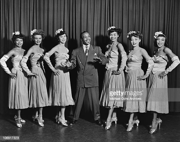 Members of Norma Miller's Dancers performing with Irwin C Miller's Brown Skin Models Harlem Road Show pose for a portrait circa 1938 in New York city...