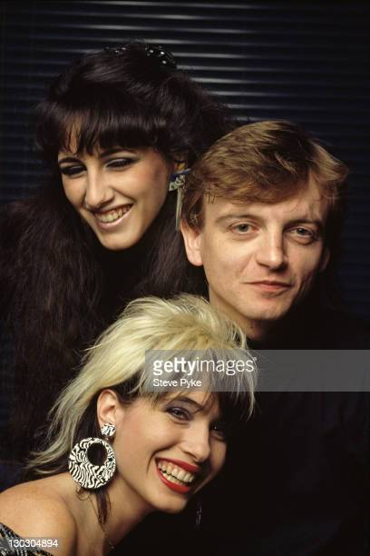 Members of of British rock group The Fall American keyboard player Marcia Schofield English vocalist and songwriter Mark E Smith and his wife...