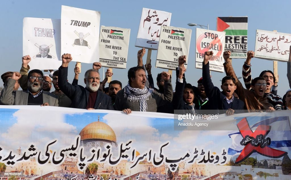 Reactions against Trumps recognition of Jerusalem as Israels capital : News Photo