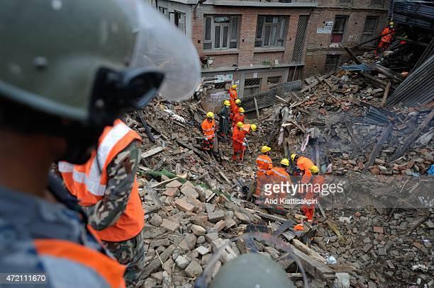 Members of Pakistani rescuer team.