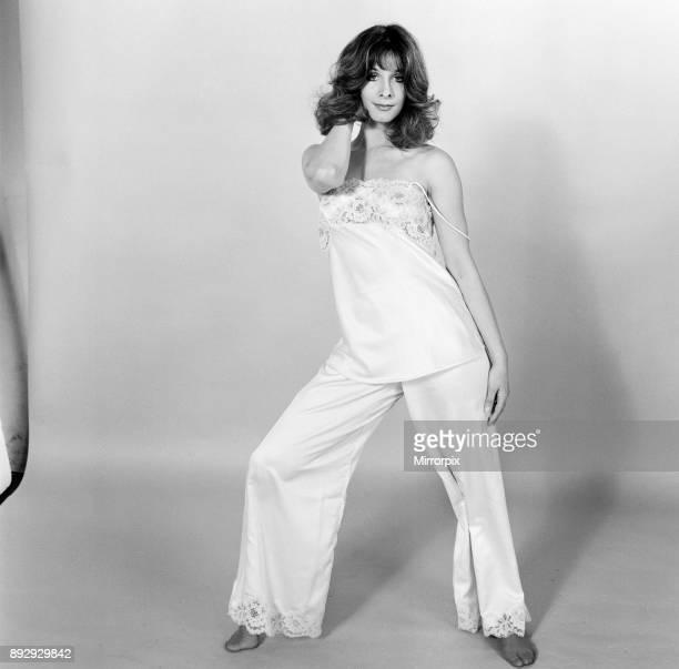 Members of Pan's People Dance Troupe model lingerie for the Mirror Studio Pix London 28th October 1974 Pictured dancer Dee Dee Wilde