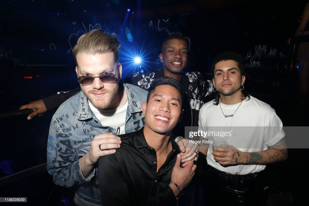 Members of Pentatonix attend the 'Night One At Palms Casino