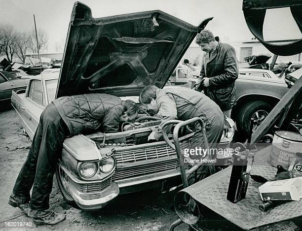 MAR 1 1978 MAR 31 1978 Members Of Police AutoTheft Strike Force Check Engine Serial Number Of Cadllac Car in wrecking yard had inspection sticker...