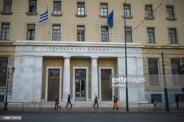 Members of public walk past the headquarters of the Bank of Greece in Athens Greece 5 December 201822% of GDP growth for the third quarter of the...