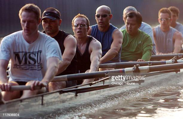 Members of 'Qrew Chicago' practice rowing July 13 in the Chicago River in preparation for the seventh Gay Games to begin on Saturday