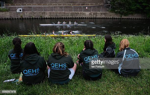 Members of Queen Elizabeth High School rowing club watch from the riverbank as rowers from across the country take part in the 183rd annual regatta...