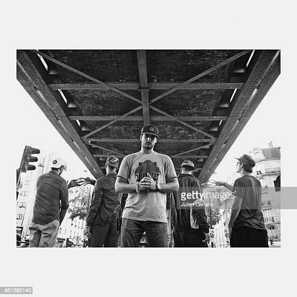 Members of rap band SCrew are photographed for Self Assignment on September 10 2013 in Paris France
