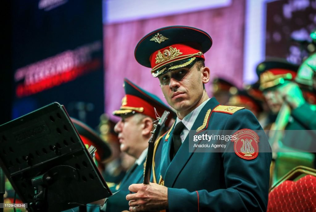 Members of 'Red Army Choir' or 'Alexandrov Ensemble', the