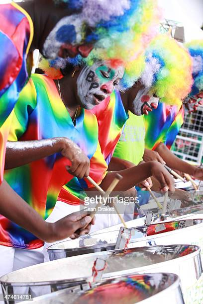 Members of Renegades Youth Steel Orchestra perform at Junior Panorama in Port of Spain Trinidad on Sunday February 23 2014