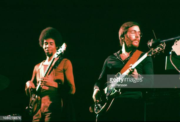Members of Return to Forever American jazz bassist Stanley Clarke and American jazz guitarist Al Di Meola at Jazzhus Montmartre, Copenhagen, Denmark,...