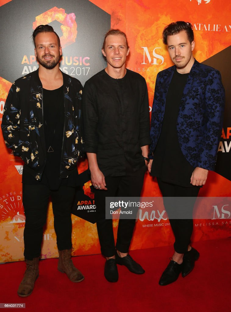 Members of RFS arrive ahead of the 2017 APRA Music Awards on April 3, 2017 in Sydney, Australia.