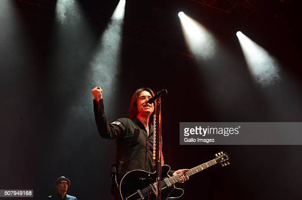 Members of Roxette during their concert on January 31, 2016 at the Ticketpro Dome in Johannesburg, South Africa. Roxette is touring South Africa as...
