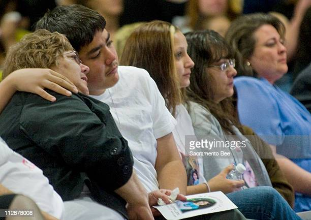 Members of Sandra Cantu's family, from left, grandmother Dolores Chavez; Sandra's brother and sister Tommy Fortin and Simone Mokol; her mom Maria...