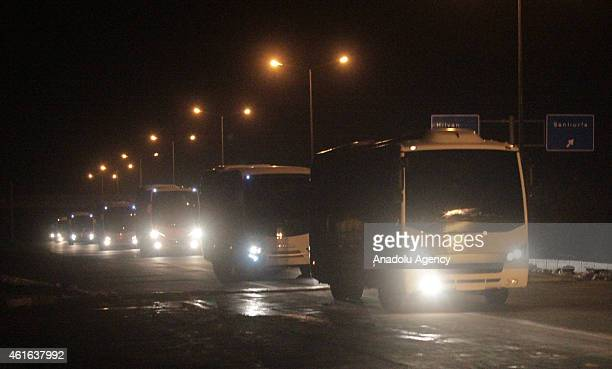 Members of second Peshmerga Forces coming from Kobani arrive to Sanliurfa GAP Airport of Turkey depart for Arbil, on January 16, 2015. Iraqi Kurdish...