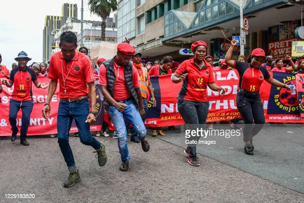 Members of shack-dwellers movement, Abahlali baseMjondolo protest the alleged theft of hundreds of millions of COVID-19 funds in KwaZulu-Natal on...