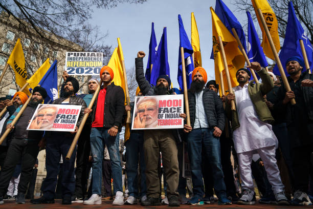 DC: Sikhs Protest Outside White House Ahead Of Trump's Visit To India