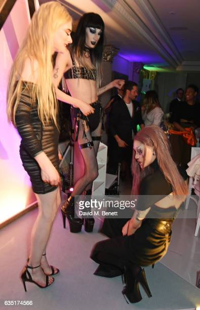 Members of Sink The Pink perform at the Elle Style Awards 2017 after party on February 13 2017 in London England