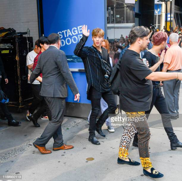 Members of South Korean boy group Monsta X is seen outside Good Morning America on August 1 2019 in New York City