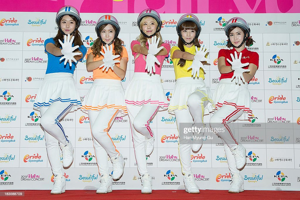 Members of South Korean girl group Crayon Pop attend the 2013 Hallyu Dream Concert on October 5, 2013 in Gyeongju, South Korea.