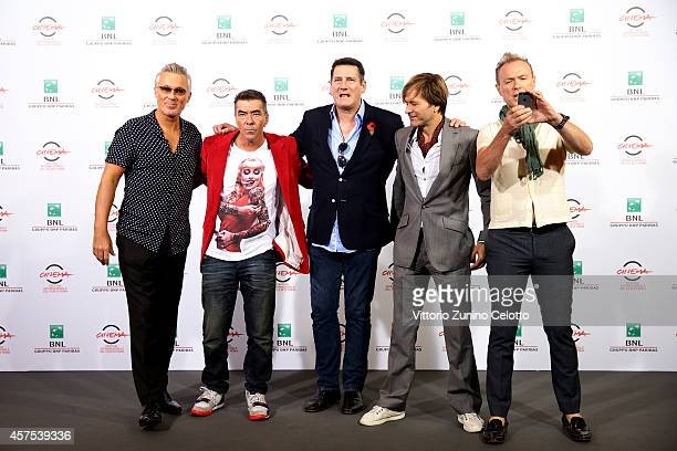 Members of Spandau Ballet pop band Martin Kemp John Keeble Tony Hadley Steve Norman and Gary Kemp attend the 'Soul Boys of the Western World'...