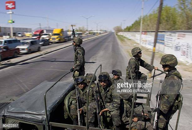 Members of Special Force of Mexican Army arrives to Ciudad Juarez on March 28 The Mexican government sent some 2000 soldiers to combat the...