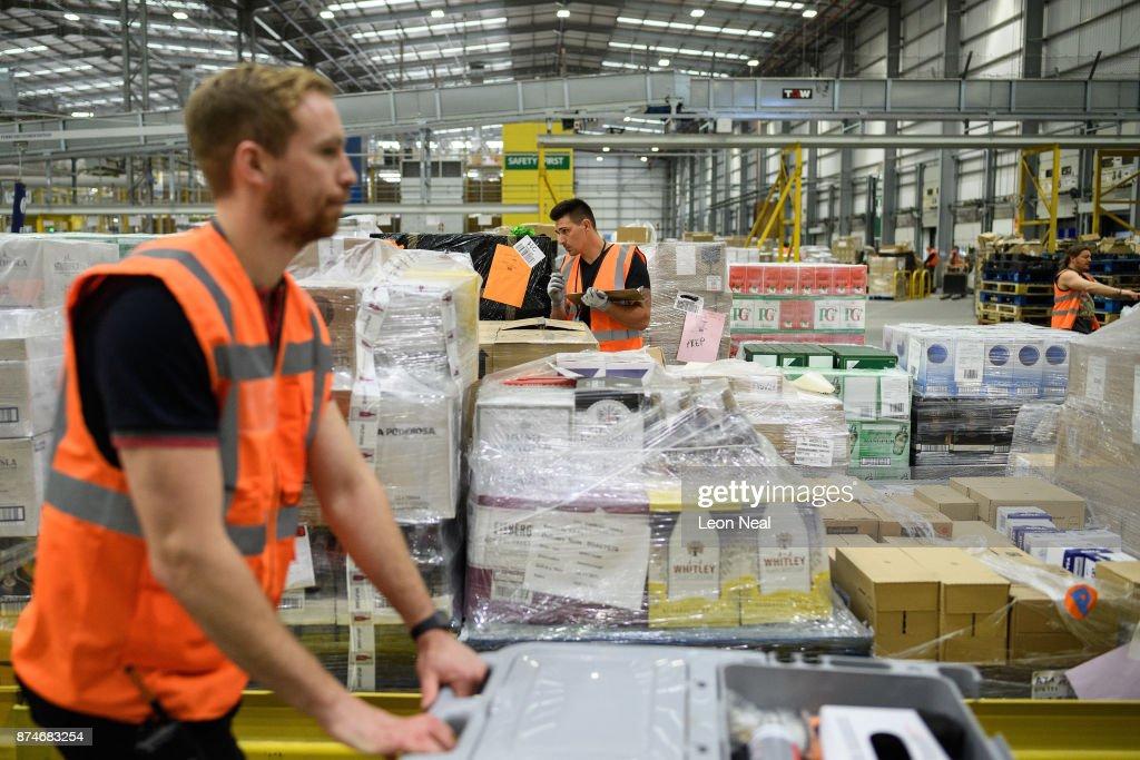 An Amazon Fulfilment Centre Prepares For Black Friday : News Photo