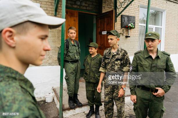 UKRAINE ILOVAISK DONBASS UKRAINE Members of Steppen Wolves before the Saturday training starts The first thing that catches the eyes of the pupils...