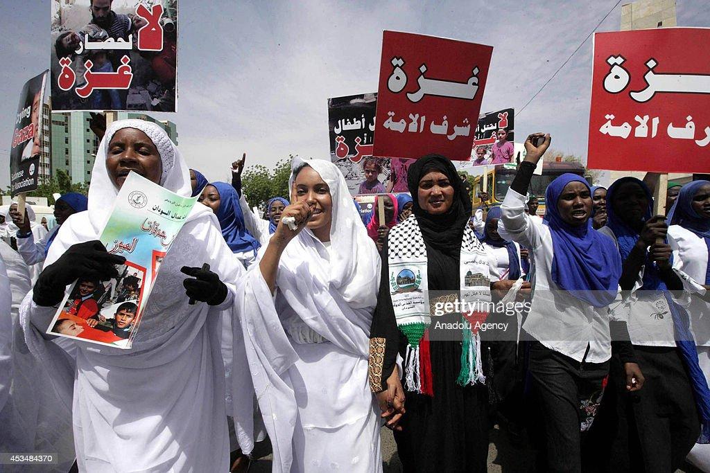 Israel's attacks on Gaza protested in Sudan : Nieuwsfoto's