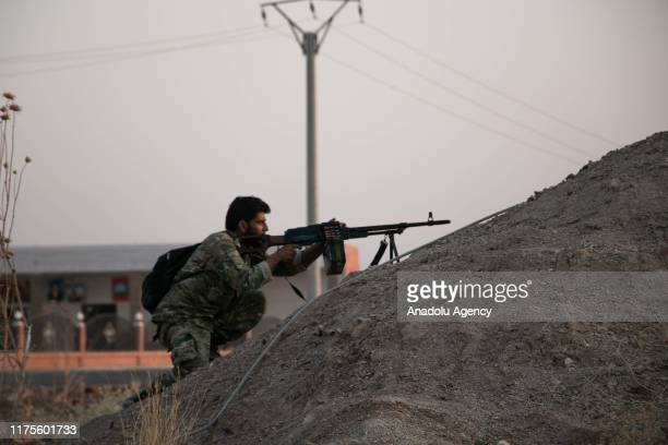 Members of Syrian National Army continue their operation as they hit terror targets in Syria's Ras al-Ayn to clear the town from PKK terror group and...