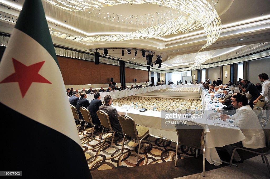 TURKEY-SYRIA-CONFLICT-POLITICS-OPPOSITION : News Photo